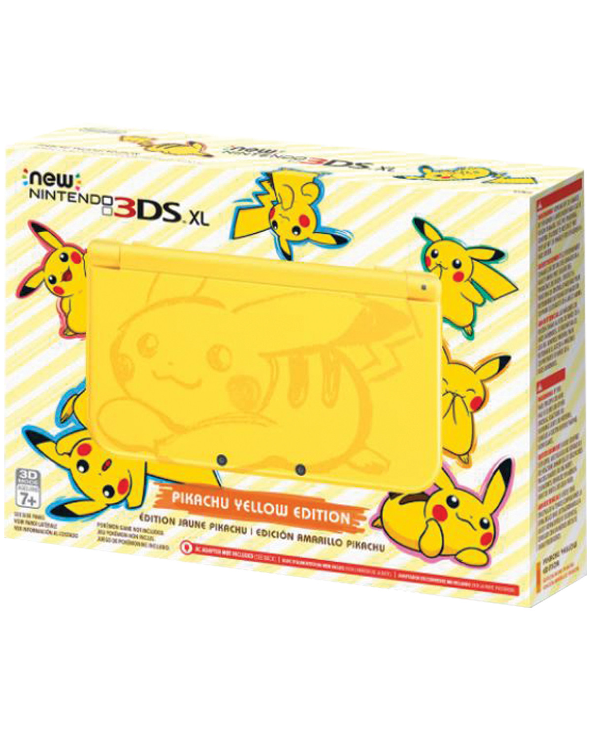 CONSOLA NEW NINTENDO 3DS XL AMARILLA POKEMON PIKACHU