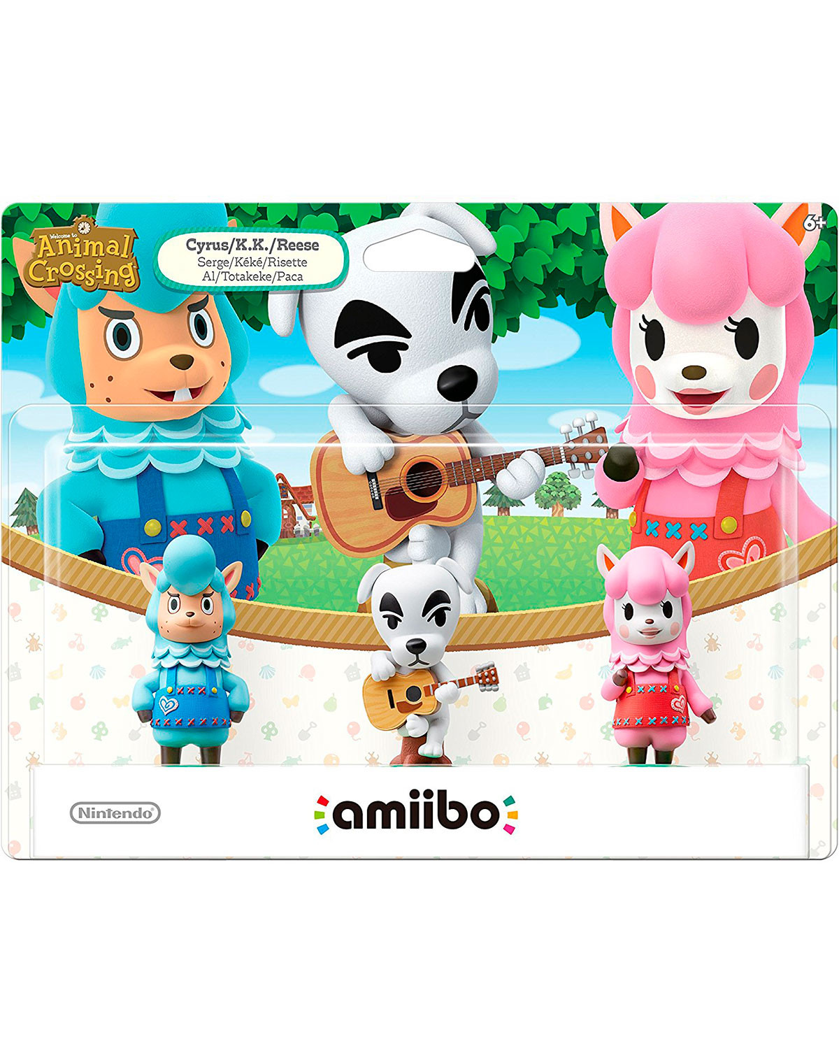 AMIIBO ANIMAL CROSSING PAQUETE TRIPLE CYRUS KK Y RESSE