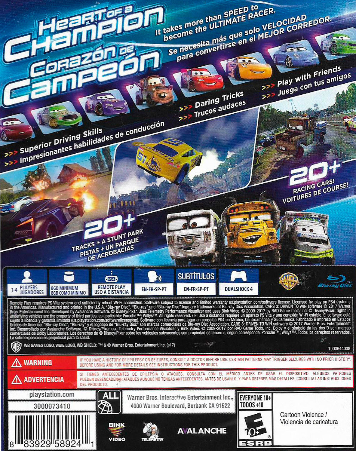 cars 3 driven to win para ps4 gameplanet. Black Bedroom Furniture Sets. Home Design Ideas