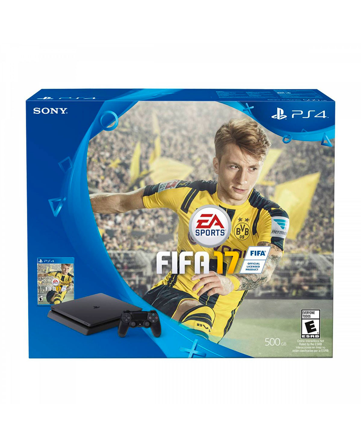 CONSOLA PLAYSTATION 4 SLIM NEGRO 500GB FIFA 17 BUNDLE