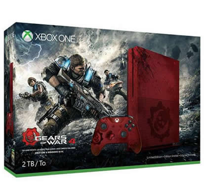 CONSOLA XBOX ONE S ROJO 2TB CON GEARS OF WAR 4 Y 12 MESES XBOX LIVE GOLD