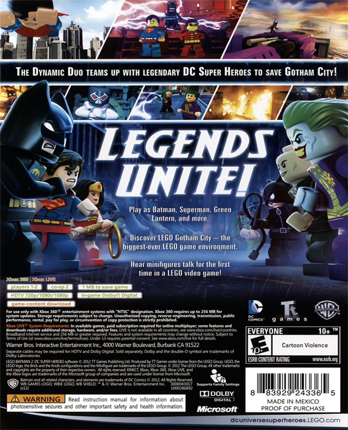 Lego Batman 2 Dc Super Heroes Para 360 Gameplanet