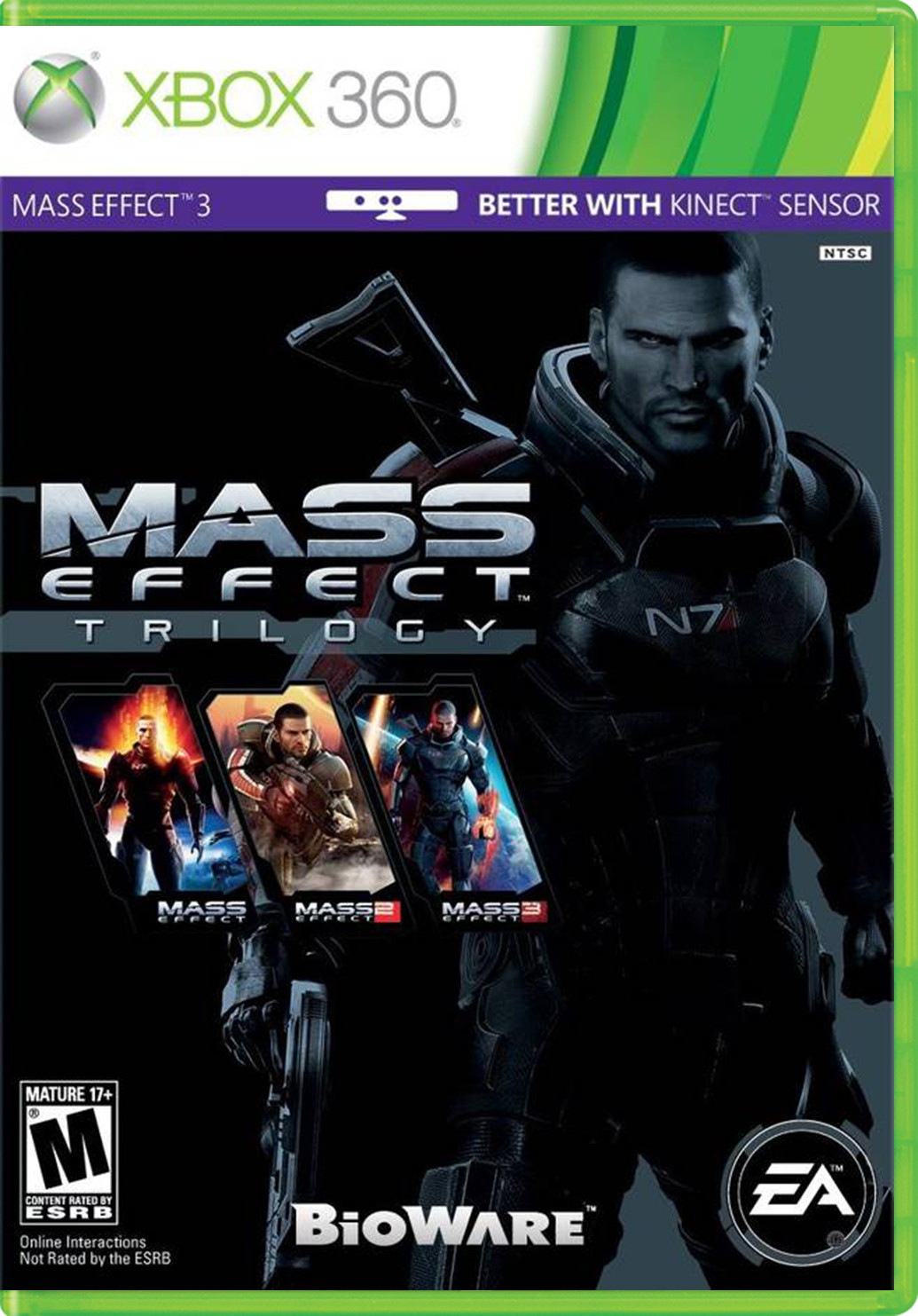 Mass effect: trilogy xbox 360 box art cover by nightshadex.