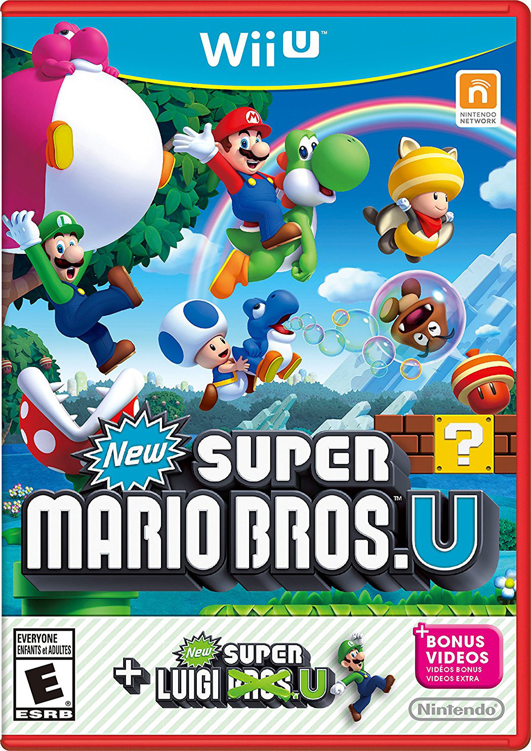 new super mario bros u with new super luigi u para wiiu gameplanet. Black Bedroom Furniture Sets. Home Design Ideas
