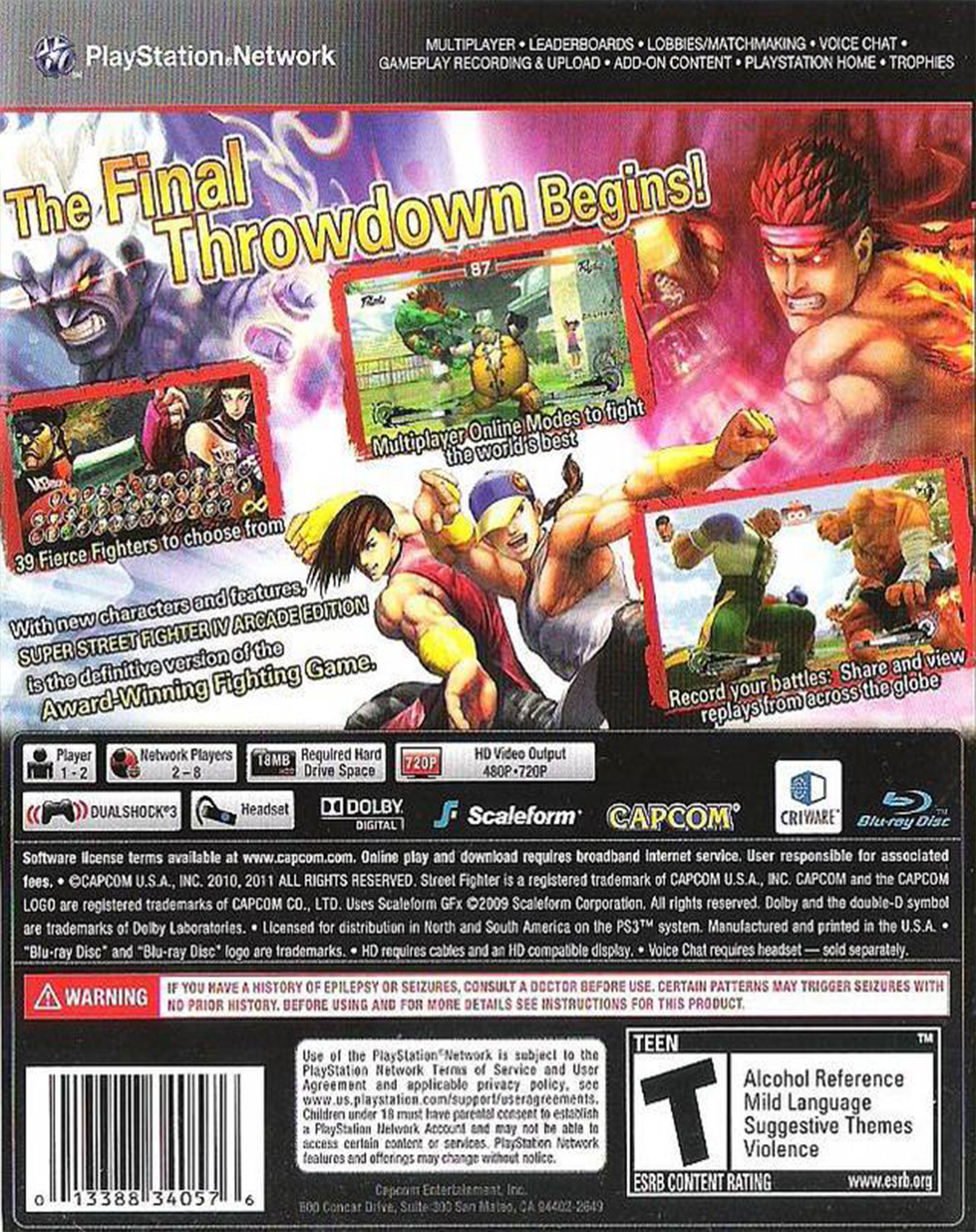 super street fighter 4 arcade edition para ps3