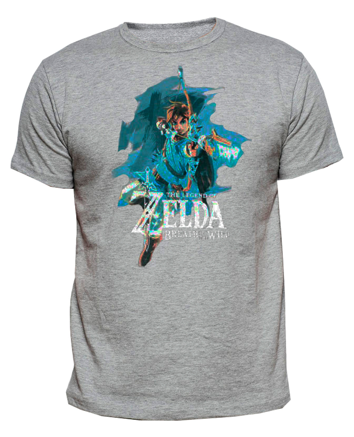 PLAYERA ZELDA BREATH OF THE WILD LINK ARQUERO GRIS MEDIANA para PRO ... 87950d21902e0