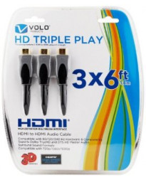 CABLE HDMI VALUE PACK 3X1