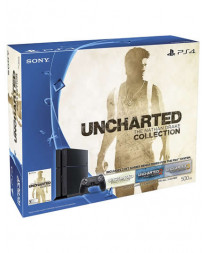 CONSOLA PLAYSTATION 4 NEGRO 500GB BUNDLE THE NATHAN DRAKE COLLECTION