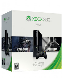 CONSOLA XBOX 360 ELITE NEGRO 500 GB CON CALL OF DUTY GHOSTS Y CALL OF DUTY BLACK OPS II