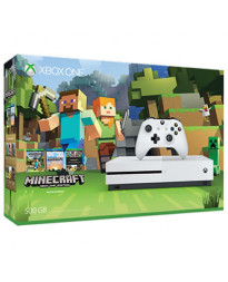 CONSOLA XBOX ONE S BLANCO 500GB CON MINECRAFT