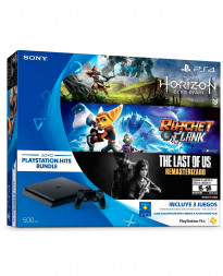 CONSOLA PLAYSTATION 4 SLIM NEGRO 500GB HITS BUNDLE