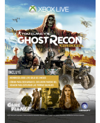 TARJETA XBOX LIVE 3 MESES GOLD CARD GHOST RECON