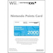 NINTENDO POINTS CARD 2000 POINTS