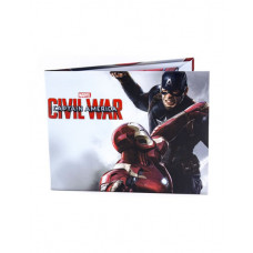 CARTERA DE PAPEL CAPITAN AMERICA VS IRON MAN CIVIL WAR