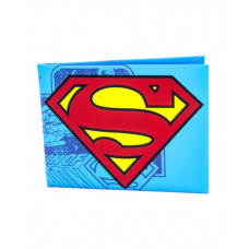 CARTERA DE PAPEL SUPERMAN LOGO COMICS AZUL