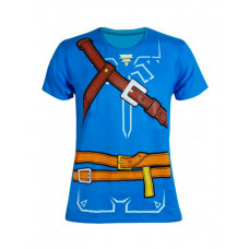 PLAYERA ZELDA BREATH OF THE WILD LINK COSPLAY AZUL MEDIANA