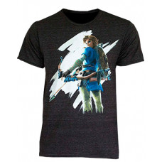 PLAYERA ZELDA BREATH OF THE WILD LINK ARQUERO NEGRA MEDIANA