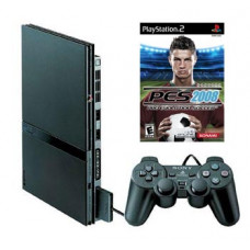 CONSOLA PLAYSTATION 2 SLIM NEGRO PRO EVOLUTION SOCCER 2008