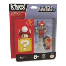 SUPER MARIO 3 PACK BUILDABLE FIGURE FLYING SQUIRREL MARIO FIRE TOAD AND MISTERY FIGURE