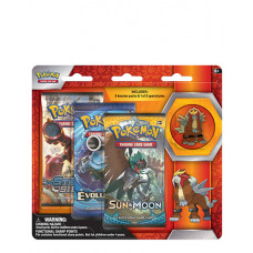 TRIPLE SOBRE POKEMON TRADING CARD GAME BESTIAS LEGENDARIAS CON PIN ENTEI