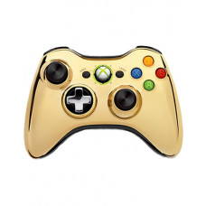 XBOX 360 WIRELESS CONTROLLER CHROME GOLD