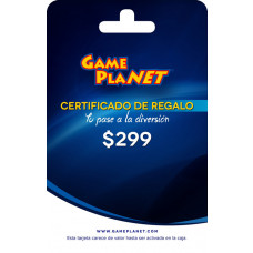 CERTIFICADO DE REGALO GAMEPLANET 299