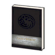LIBRETA GAME OF THRONES CASA TARGARYEN NEGRA
