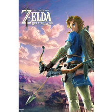MAXI POSTER THE LEGEND OF ZELDA BREATH OF THE WILD HYRULE LANDSCAPE