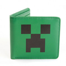 CARTERA DE PIEL MINECRAFT CREEPER FACE VERDE