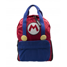 MOCHILA MARIO BROS AZUL Y ROJO