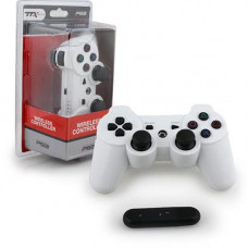 PS3 WIRELESS CONTROLLER WHITE 2.4 GHZ