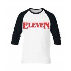 PLAYERA MANGA LARGA STRANGER THINGS ELEVEN BLANCA MEDIANA