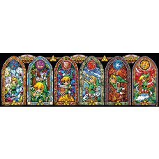 POSTER THE LEGEND OF ZELDA WIND WAKER VITRAL