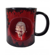 TAZA DE CERAMICA THE WALKING DEAD CABEZA ZOMBIE NEGRA